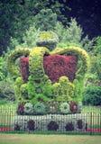 Een koninklijke kroon van bladeren en bloemen Royalty-vrije Stock Foto's