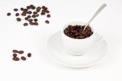 Een kop koffiebonen Stock Foto