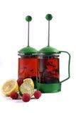 Een kop thee met citroen Stock Foto