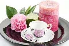 Een kop thee voor  stock afbeeldingen