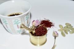 Een kop van Arabische koffie Stock Afbeelding