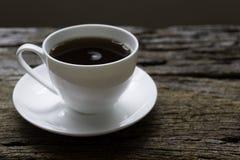 Een kop van cofee op de lijst Royalty-vrije Stock Foto's