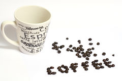 Een kop van coffe Stock Foto's
