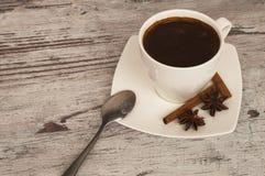 Een kop van geurige ochtendkoffie Stock Afbeelding