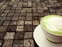 Een kop van groene thee Stock Afbeelding