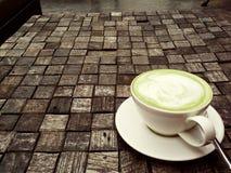 Een kop van groene thee Stock Foto