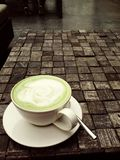 Een kop van groene thee Royalty-vrije Stock Foto's