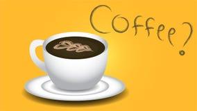 Een kop van hete koffie royalty-vrije illustratie