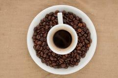 Een kop van koffie. Stock Afbeeldingen