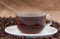 Een kop van koffie. Royalty-vrije Stock Afbeelding