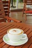 Een kop van koffie Capuchino Stock Fotografie