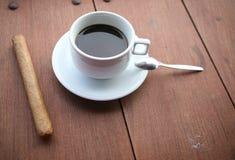 Een kop van koffie in Dominicaanse Republiek Stock Foto's