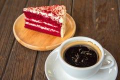 Een kop van koffie en cake Royalty-vrije Stock Foto