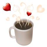 Een kop van koffie en hart. Royalty-vrije Stock Foto's