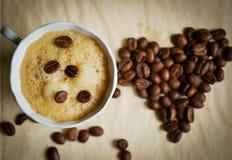 Een kop van koffie met liefde Royalty-vrije Stock Fotografie