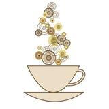 Een kop van koffie op witte achtergrond Royalty-vrije Stock Foto