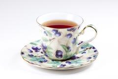 Een kop van zwarte thee stock afbeelding