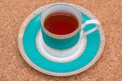 Een kop van zwarte thee Stock Foto