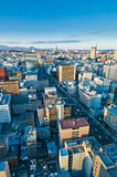 Een koude dag in Sendai Japan royalty-vrije stock afbeelding