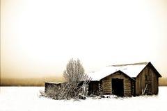 Een koude verlaten schuur Stock Afbeeldingen