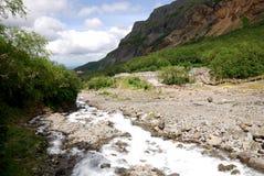 Een kreek dichtbij Waterval Changbai Royalty-vrije Stock Fotografie