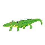Een krokodillebeeldverhaalkarakter Stock Afbeeldingen