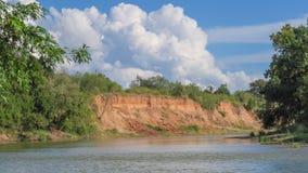 Een kromming in de rivier Stock Afbeeldingen