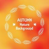 een kroon van de herfstbladeren in EPS 10 stock illustratie