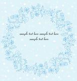 Een kroon van de kleuren van Kerstmis met nahom en sneeuwvlokken Royalty-vrije Stock Afbeeldingen