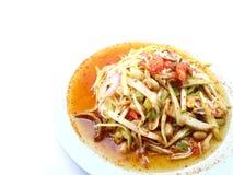 Een kruidige mangosalade met groente en Spaanse peper Royalty-vrije Stock Foto