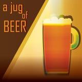 Een kruik bierillustratie Stock Foto's