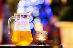 Een kruik koud bier Stock Foto