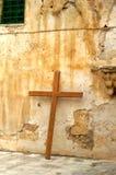 Een kruis in Jeruzalem stock afbeeldingen