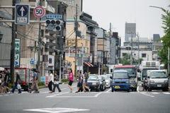 Een kruising van Kyoto stock fotografie