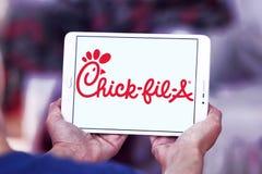 Een kuiken-fil-embleem van het snel voedselrestaurant stock fotografie