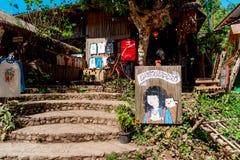 Een kunstgalerie en een herinnering winkelen in Maekampong-dorp, Chiang Mai royalty-vrije stock foto