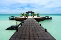 Een kunstmatig eiland van gangKapalai stock afbeeldingen