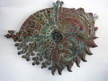 Een kunstwerk die de punten van een kompas afschilderen die verschillende overzeese schepselen tonen Royalty-vrije Stock Fotografie