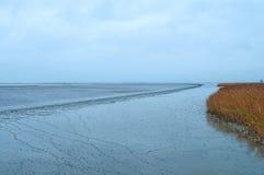 Een kust van het Noorden ziet Husum, Duitsland royalty-vrije stock foto