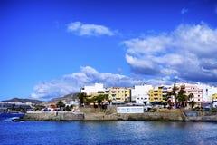 Een kustlandschap van Arguineguin in Gran Canaria stock foto's