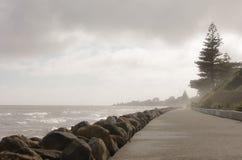 Een kustlijn in Kapiti-kust royalty-vrije stock afbeeldingen