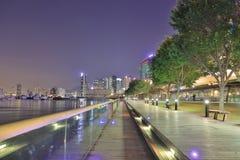 een Kwun tong wandelt langs, Hongkong 2018 royalty-vrije stock foto's