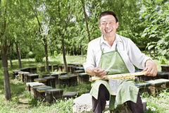 Een lachende mens Royalty-vrije Stock Fotografie