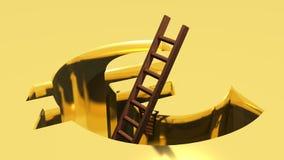 Een ladder om uit uit Euro te komen Stock Foto
