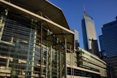 De moderne bouw in Hong Kong Stock Foto's