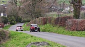 Een een Lagonda en Buick-Eeuw in Cumbria, Engeland stock footage