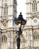 Een lamp op de straat in Londen Stock Foto's