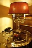 Een lampslaapkamer Stock Foto's
