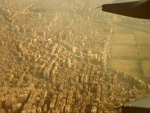 Een land van Egypte van vliegtuig Royalty-vrije Stock Foto's
