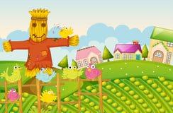 Een landbouwbedrijf stock illustratie